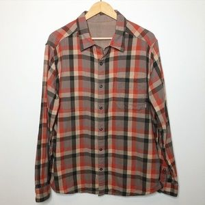 Merrell Rust Tan Plaid Reversible Button D…